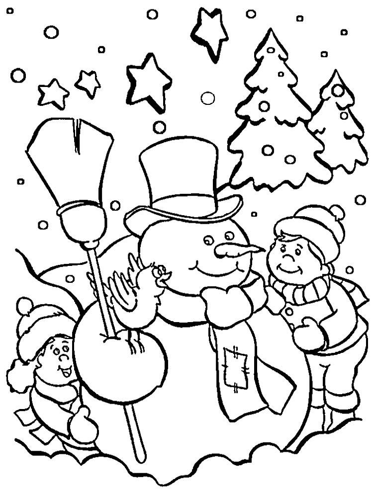 Картинки новогодних рисунков для раскраски