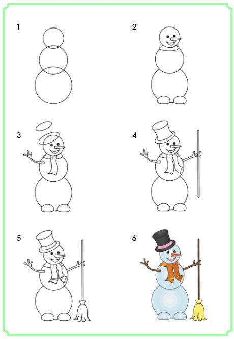 р-н новогодние рисунки поэтапно рисовать она