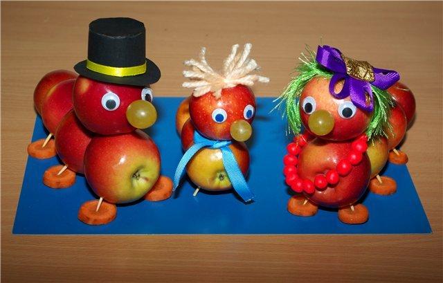 Поделки своими руками гусеница из яблок своими руками фото 636