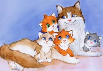 мамы и малыши животного мира
