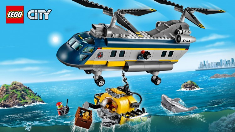 конструктор Lego City Вертолет исследователей моря