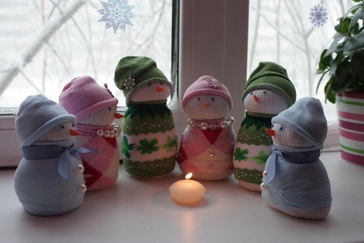 Поделка снеговик для малышей