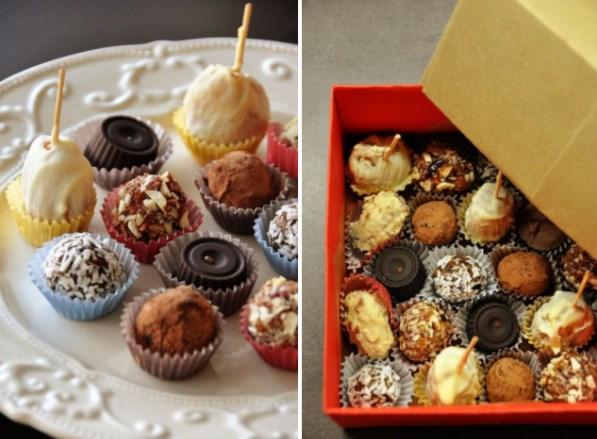 Шоколадные конфеты на День Влюбленных