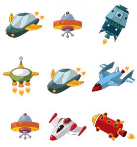 Найди одинаковые космические корабли