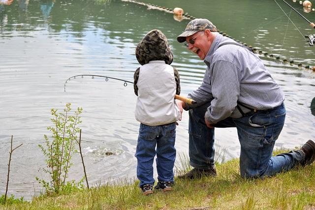 Рыбалка с внуком
