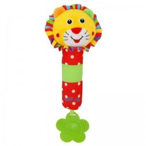 Игрушка-пищалка Lion Baby Mix