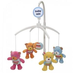 Музыкальная карусель Цветные мишки Baby Mix